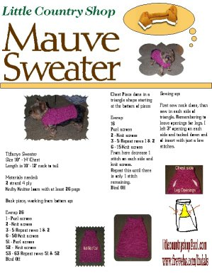 Web generated dog sweater pattern